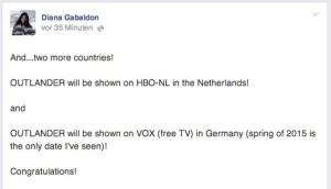 Diana Gabaldon Outlander VOX